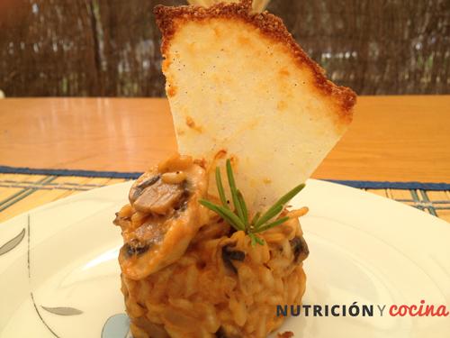 risotto de setas y parmesano, recetas arroz