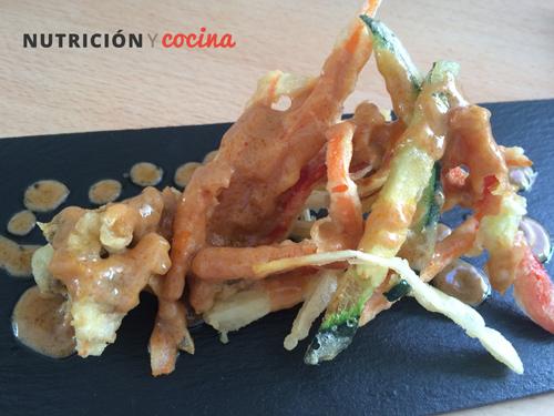 receta de ensalada de tempura