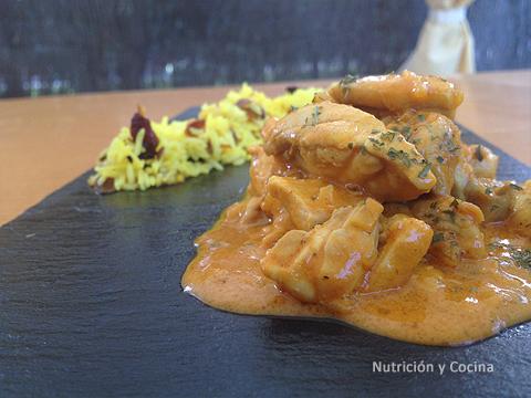 Pollo Tikka Masala y Arroz con pasas