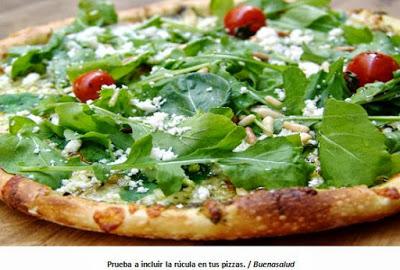 pizza de rúcula receta