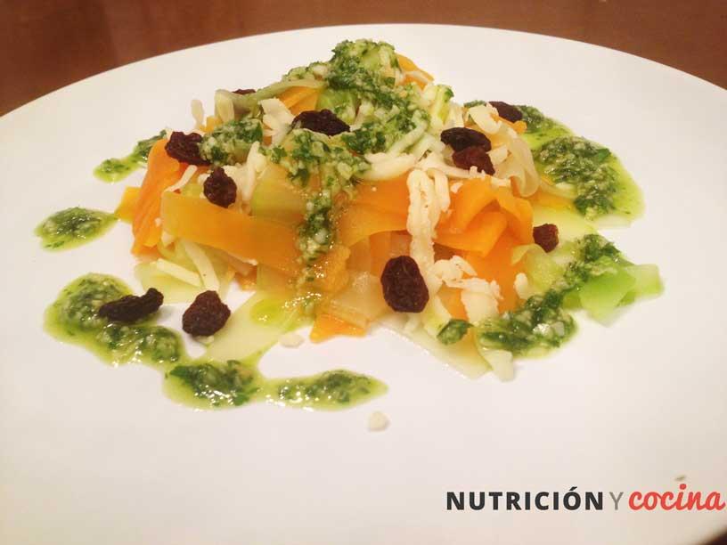 Espaguetis De Calabacin Y Calabaza Al Pesto Nutricion Y