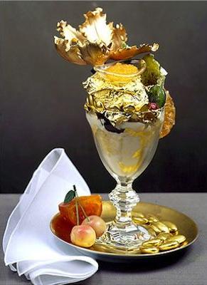 helados más raros del mundo, helado de oro