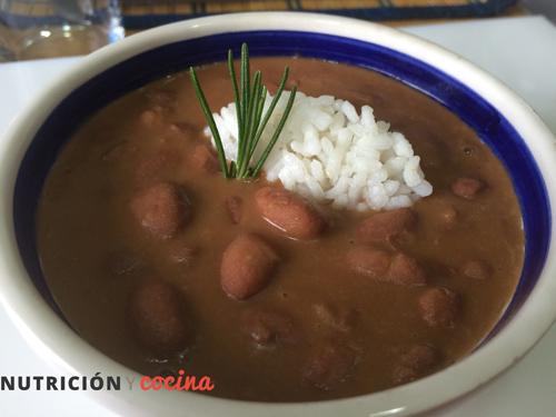 receta de judías pintas con arroz