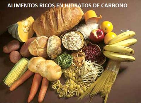 alimentos ricos en hidratos de carbono