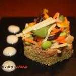 Cocinar quinoa con soja texturizada