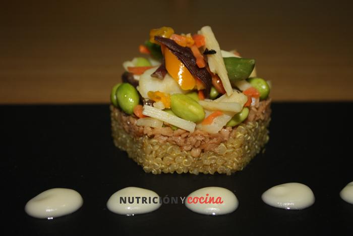 cocinar quinoa con soja texturizada receta