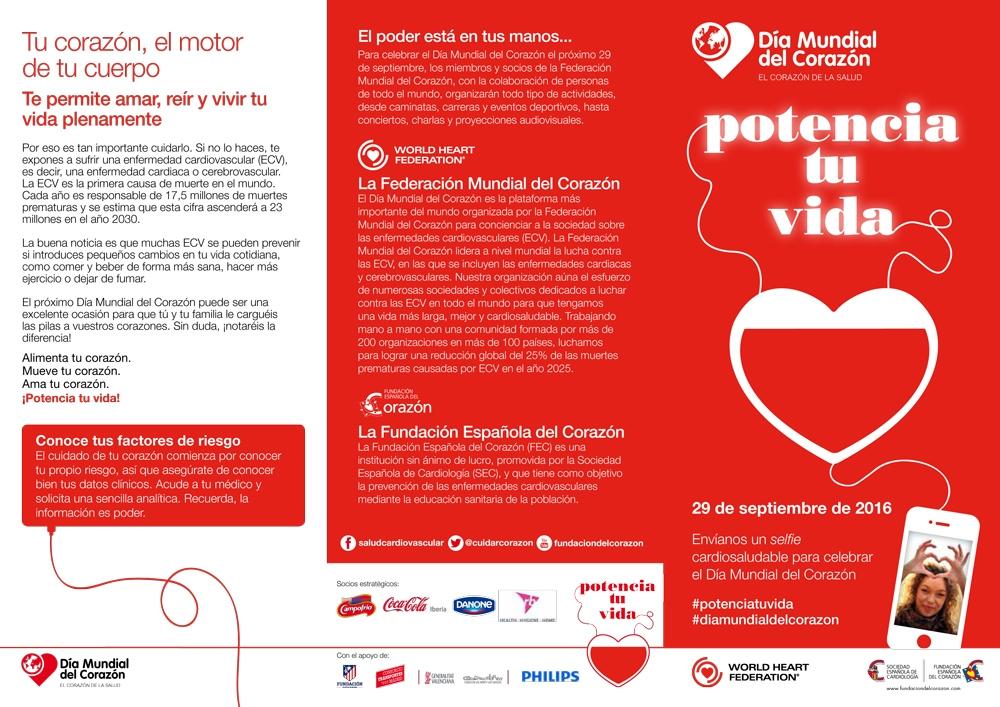 tríptico día mundial del corazón