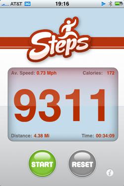 aplicaciones podómetros ejercicio