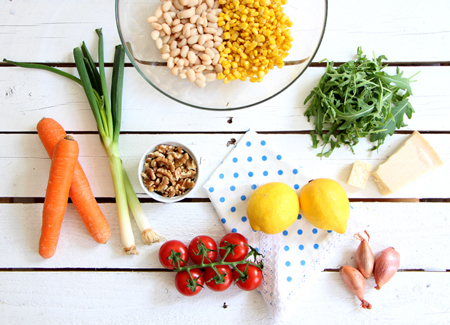 platos apetecibles y vistosos colores