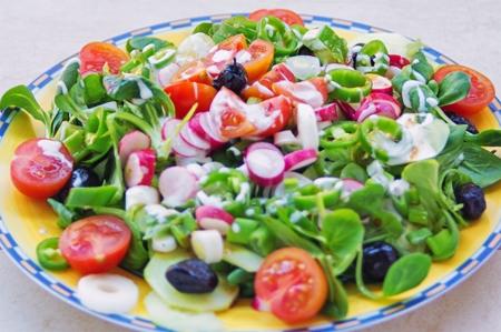 platos apetecibles y vistosos ensaladas