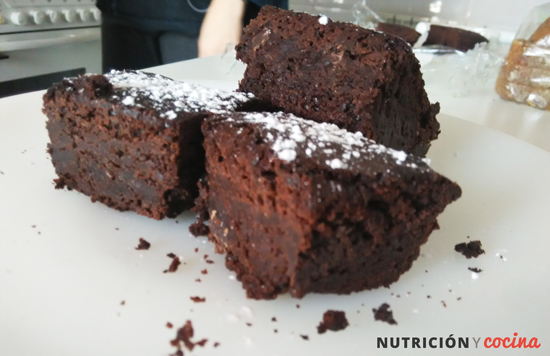 receta de brownie de chocolate negro