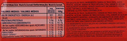 alimentos integrales, etiquetado de galletas digestive