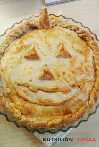 empanada de calabaza y carne, recetas para halloween