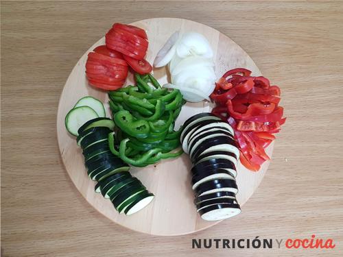 ratatouille, guarnicion de verduras para carnes y pescados