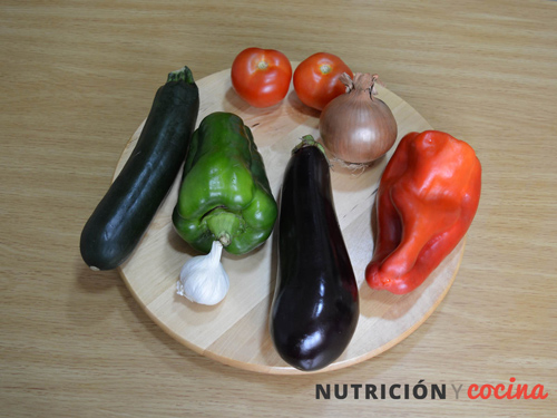 ingredientes del ratatouille