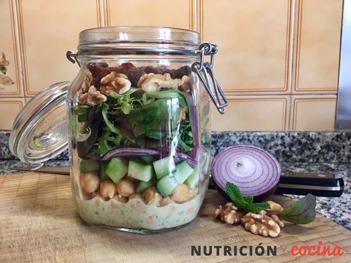 mason jar salads, ensaladas en tarro